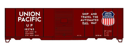 Accurail HO 81151 40' AAR Steel Box Car Kit, Union Pacific (Automated Rail Way Slogan) #102673