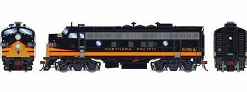 Athearn Genesis HO G12339 F5A, Northern Pacific #6051A