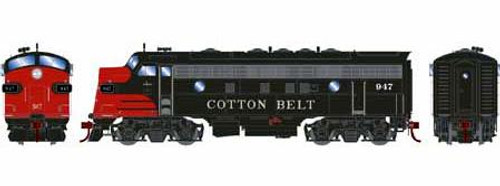 Athearn Genesis HO G12438 F7A, Cotton Belt (SSW) #947 (DCC and Sound Equipped)