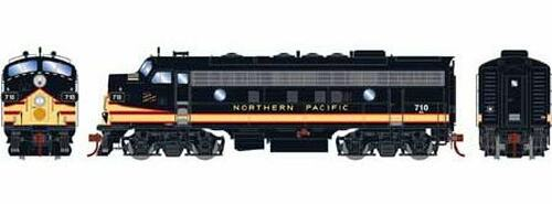 Athearn Genesis HO G12442 F7A, Burlington Northern #710 (DCC and Sound Equipped)