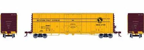 Athearn Genesis HO G26773 50' PC&F Welded Box Car with 10' 6 Door, Western Fruit Express (RBWX) #64558