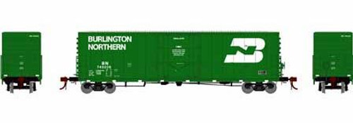 Athearn Genesis HO G26777 50' PC&F Welded Box Car with 10' 6 Door, Burlington Northern #749245