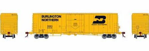 Athearn Genesis HO G26780 50' PC&F Welded Box Car with 10' 6 Door, Burlington Northern (RBBN) #64544