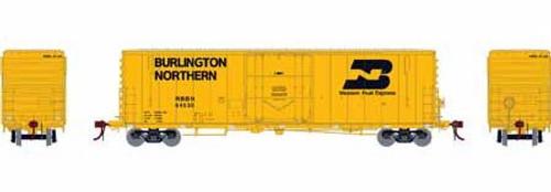 Athearn Genesis HO G26781 50' PC&F Welded Box Car with 10' 6 Door, Burlington Northern (RBBN) #64550