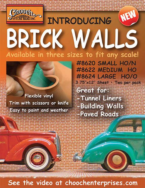 Chooch HO 8622 Flexible Brick Wall, Medium (2-Pack)