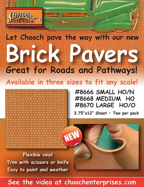 Chooch HO 8668 Flexible Brick Pavers, Medium (2-Pack)