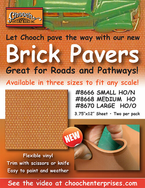 Chooch HO/O 8670 Flexible Brick Pavers, Large (2-Pack)