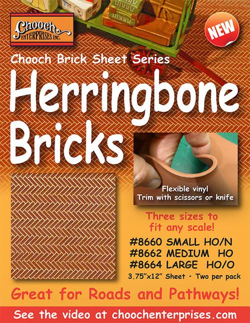 Chooch HO 8662 Flexible Herringbone Pavers, Medium (2-Pack)
