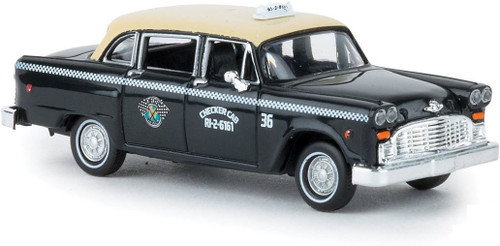 Brekina HO 58927 1950s-1982 Checker Taxi Cab, Dallas