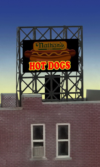 Miller Engineering Z 33-9100 Nathan's Hot Dog Billboard Sign