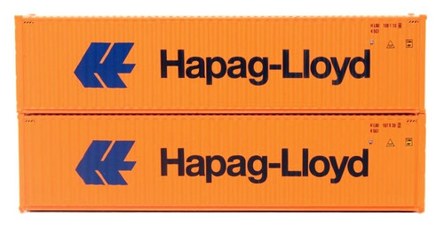 Jacksonville Terminal Company N 405024 40' High Cube Containers with Magnetic IBC Pin Connection and Corrugated Sides, HAPAG-LlOYD (Large Logo Scheme) (2) (Discontinued)