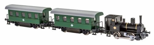 Kato Lemke N K105003 Pocket Line Series BR88 Steam Passenger Train with 2 Passenger Cars, OBB