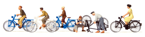 Preiser HO 10716 Young People with Bicycles (6)