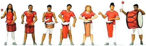 Preiser HO 24626 Samba Drumming Group (7)