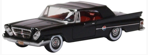 Oxford Diecast HO 87CC61002 1961 Chrysler 300 Convertible with Top Up, Black (Discontinued)