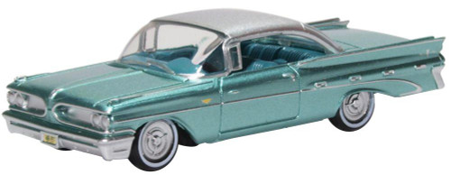 Oxford Diecast HO 87PB59003 1959 Pontiac Bonneville, Seaspray Green