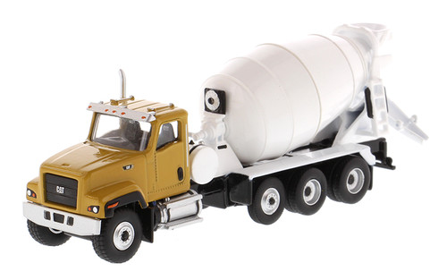 Diecast Masters HO 85512 Highline Series Cat CT681 Concrete Mixer, Yellow/White
