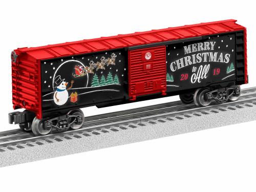 Lionel O 1928490 2019 Box Car, Christmas #28490