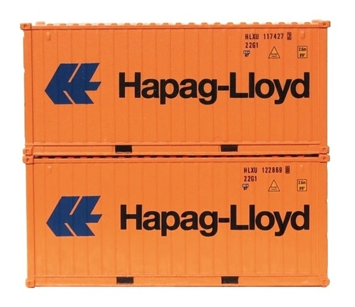 Jacksonville Terminal Company N 205324 20' Standard Height Containers with Magnetic and IBC Pin Connection, Hapag-Lloyd (2)