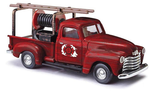 Busch HO 48238 1950 Chevrolet Pickup Truck with Hose Fire Department