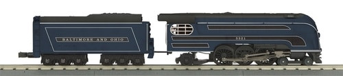 MTH RailKing O 30-1706-1 4-6-2 Forty-Niner Steam Engine, Baltimore and Ohio #5321 (Proto Sound 3) (d)