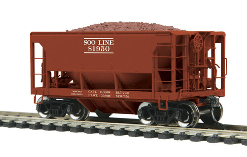 MTH HO 80-97040 70-Ton Center Discharge Ore Car, Soo Line #81950