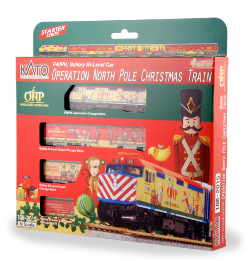 Kato N 1062015-DCC Operation North Pole 2015 Christmas Train Set (Equipped with TCS DCC Decoder)