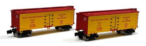 Full Throttle Z FT9022-1 34' Woodside Reefer Set #1, Fruit Growers Express (2-Pack)