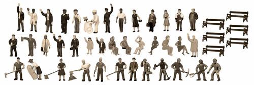 Lionel HO 1967100 Unpainted Figure Assortment 1 (48)