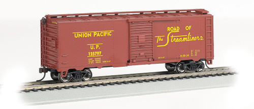Bachmann Silver Series HO 15008 Steam-Era 40' Steel Box Car, Union Pacific #125797