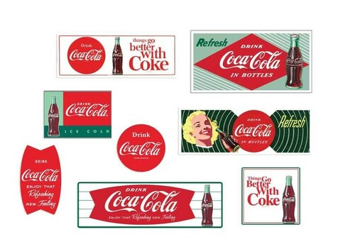 Classic Metal Works HO 20244 1950s-60's Building Signs, Coca-Cola (8)