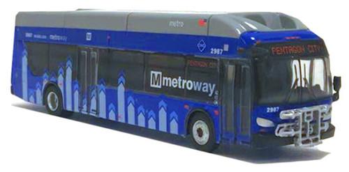 Iconic Replicas HO 87-0200 New Flyer Xcelsior XN40 Bus, Washington Metroway