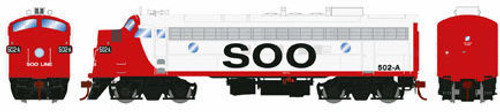 Athearn Genesis HO G22827 FP7A, Soo Line (Freight) 504 (DCC and Sound Equipped)