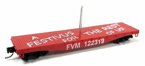 Fox Valley Models N 8945 42' Flat Car, Festivus Car 2019