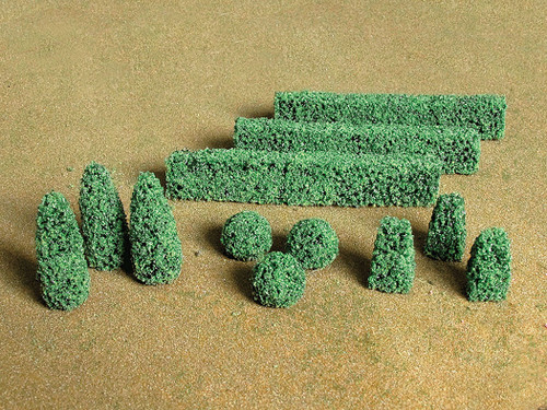 Bachmann HO 32504 Boxwood Plants (20-Pack)