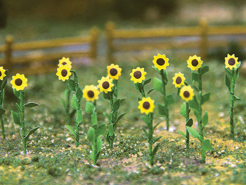 "Bachmann HO 32506 Sunflowers, 1"" Tall (16-Pack)"