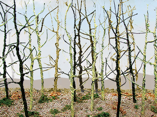 Bachmann HO 32509 Woods Edge Trees, Bare (14-Pack)