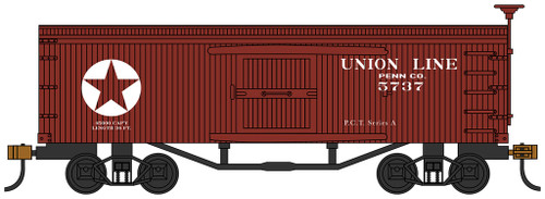 Bachmann HO 72310 Old Time Box Car, Union Line #5737