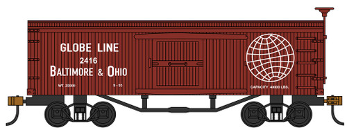 Bachmann HO 72311 Old Time Box Car, Baltimore and Ohio #2416