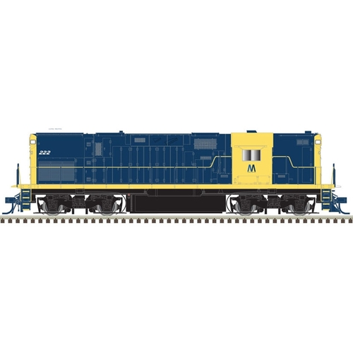 Atlas Master Line HO 10002959 Silver Series Alco C420 Phase 2B with High Nose and No Dynamic Brakes, Long Island (Retro Dark Blue) #222