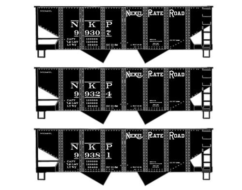 Accurail HO 8118 USRA Twin Hopper Kits, Nickel Plate Road (3-Pack)