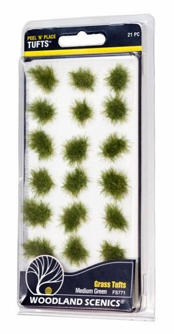 Woodland Scenics FS771 Peel 'n' Place Tufts, Medium Green Grass (21)