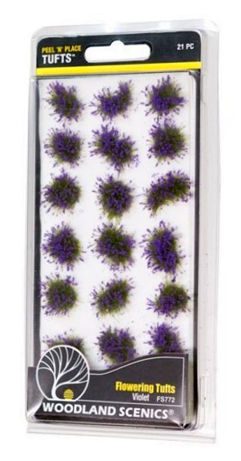 Woodland Scenics FS772 Peel 'n' Place Tufts, Violet Flowering (21)