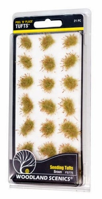 Woodland Scenics FS775 Peel 'n' Place Tufts, Brown Seeding (21)