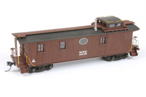 American Model Builders HO 887 Long Wood Cupola Caboose Kit, New York Central #20118