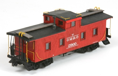 American Model Builders HO 889 Wood Cupola Caboose Kit, Gulf Mobile and Ohio #2900