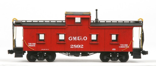 American Model Builders HO 890 Plywood Side Caboose Kit, Gulf Mobile and Ohio #2892