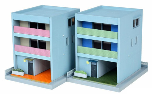 Tomix (TomyTec) N 285953 Contemporary Town Houses Kit D3 (2)