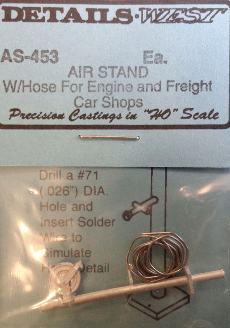 Details West HO 453 Air Stand with Hose for Engine and Freight Car Shops