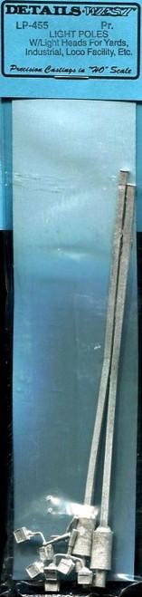 Details West HO 455 Light Pole Kits with Light Heads (2)